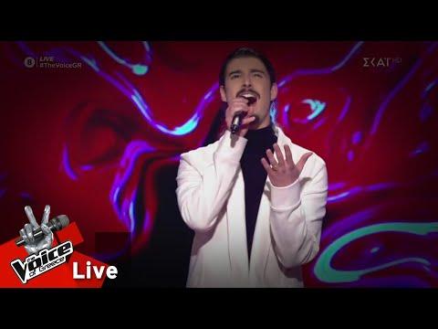 Κωνσταντίνος Κρομμύδας - Make it rain | 2o Live | The Voice of Greece