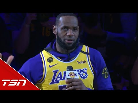 LeBron delivers heartfelt speech in honour of Kobe and the crash victims